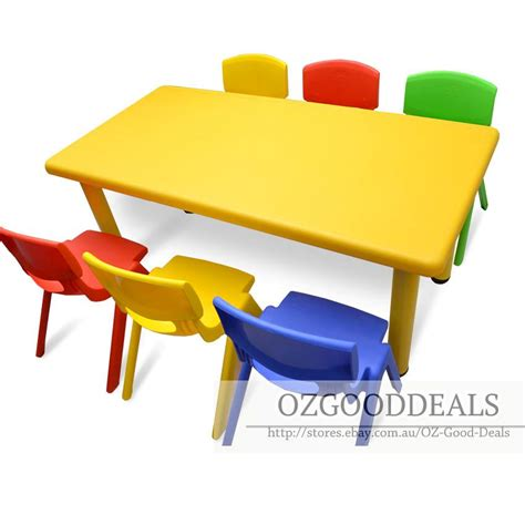 activity table and chairs large kids children activity table and 6 chair