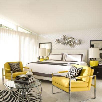 Yellow And Gray Bedroom  Contemporary  Bedroom David