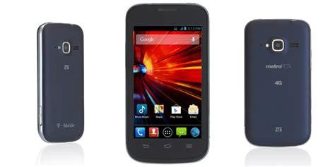 t mobile zte concord ii prepaid smartphone t mobile and metropcs add entry level zte concord ii T Mob