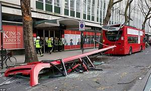 Five injured after London bus gets its roof ripped off by ...