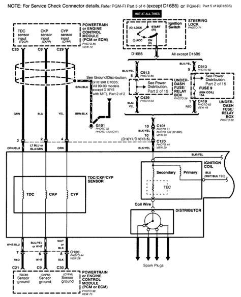Lt1 Sensor Diagram by 97 Honda Civic Wiring Diagram 94 Honda Civic Fuse Box