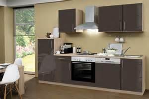 küche sonoma eiche menke premium küchenzeile küche 280cm eiche sonoma hochglanz lack grau premium küchenzeilen