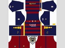 Kit & logo FC Barcelona Dream league Soccer 2016 Super