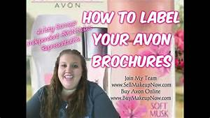How To Label Your Avon Brochures