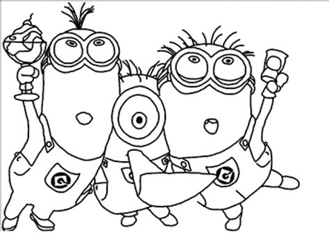 Minion Coloring Pages Free Democraciaejustica