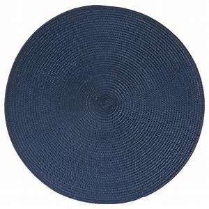 Set De Table Bleu : set de table rond 38cm bleu ~ Teatrodelosmanantiales.com Idées de Décoration