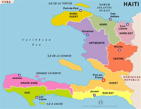 haiti map toursmapscom