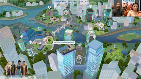 The Sims 4 City Living San Myshuno World Map