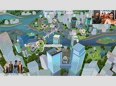 The Sims 4 City Living San Myshuno World Map