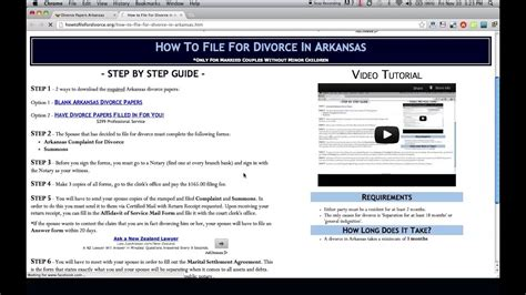 arkansas divorce forms download free arkansas divorce papers and forms youtube