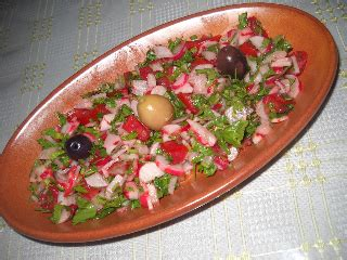 tastira cuisine tunisienne salade aux radis slatet fjell entrée recette