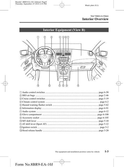 2012 Mazda Mazda5 Minivan owners manual provided by naples