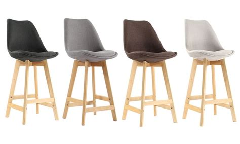 tabourets de bar scandinaves tissu groupon