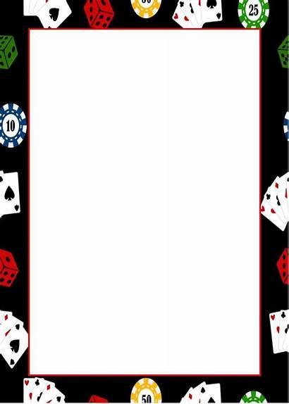Casino Invitation Template Clipart Blank Night Printable