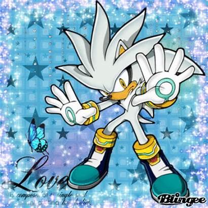 Silver Hedgehog Blingee Anime Editor Created Digital