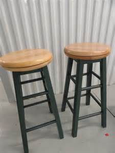 bar stools used two bar stools quot lazy susan quot wooden swivel seats