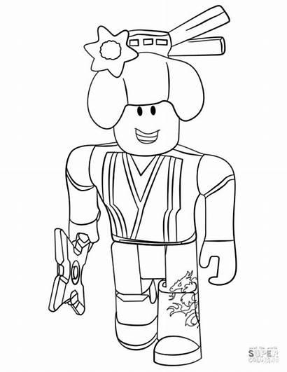 Coloring Roblox Printable Ninja Piggy Colorear Dibujos
