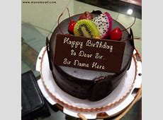 Chocolate Birthday Cake Image Edit With Boss Name wishes