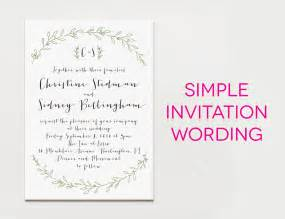 wedding words 15 wedding invitation wording sles from traditional to