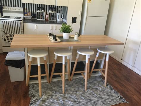 Kitchen Table Hack by Ikea Hack Kitchen Table Image To U