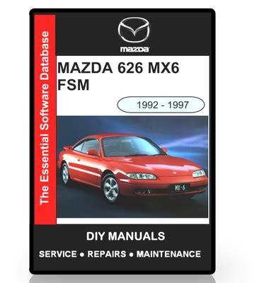 manual repair autos 1992 mazda 626 regenerative braking mazda 626 mx6 workshop manual 1992 1997 download manuals
