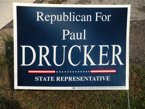 custom political signs home