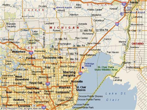 macomb mi map