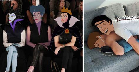 artist photoshops disney princesses  celebrity