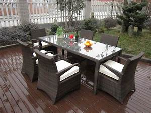 Rattan garden dining sets washable resin wicker patio for Wicker patio furniture sets