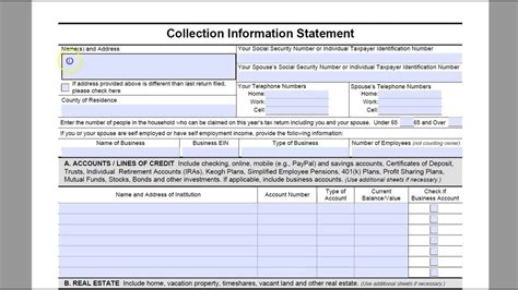 complete irs form   youtube
