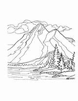 Coloring Mountains Pages Mountain Range Nature Colouring Printable Sheets Easy Bestcoloringpagesforkids Adult Template sketch template