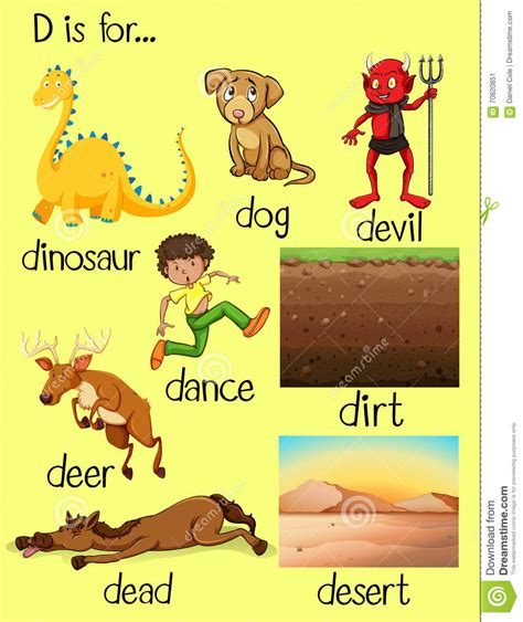 preschool words that start with d letter d clipart pictures of things that strt with d 460