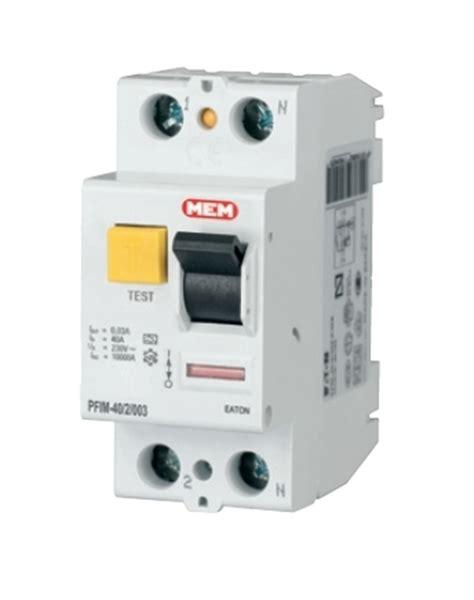Eaton Mem Residual Current Circuit Breaker