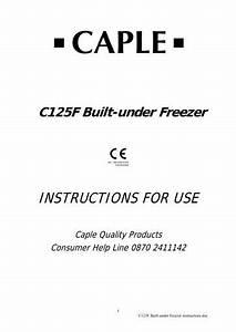 C125f Instruction Manual