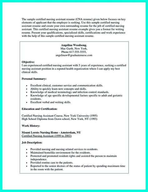 And Abilities For Nursing Resume by Impress The Employer With Great Certified Nursing