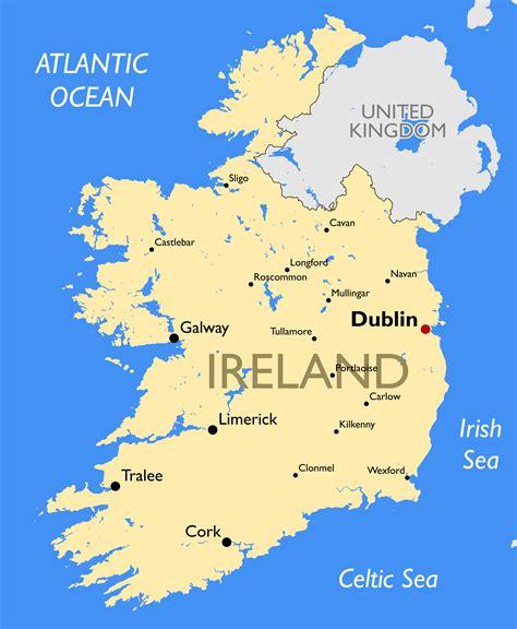 ireland map guide   world