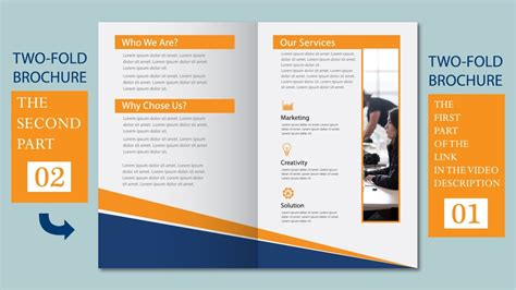 Two Fold Brochure Design by Illustrator Tutorial Two Fold Business Brochure Template