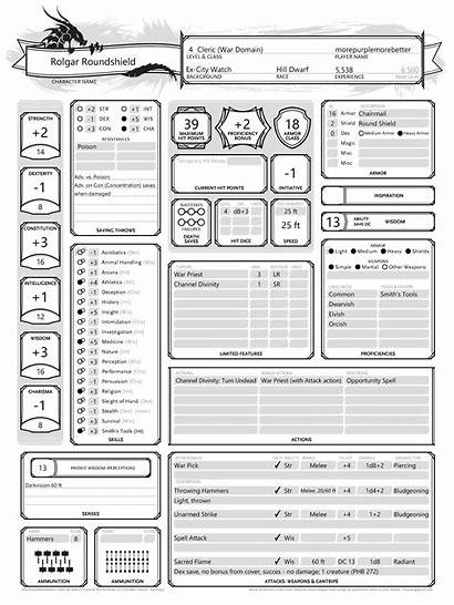 Dnd Character Sheet Printer Record Welcome