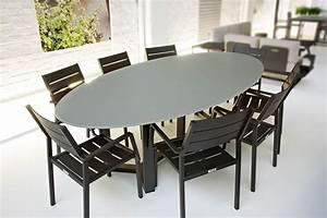 Table Ovale Design : table de jardin ovale design 260 cm plateau en verre montella la galerie du teck ~ Teatrodelosmanantiales.com Idées de Décoration