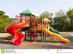 Children Playground In Park Stock Image - Image of rubber ...