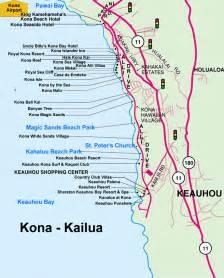 Kailua Kona Hawaii Map Big Island
