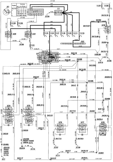 Shift Lock Volvo 850 Wiring Diagram by 94 Volvo 850 Turbo Wagon Central Locking Went From