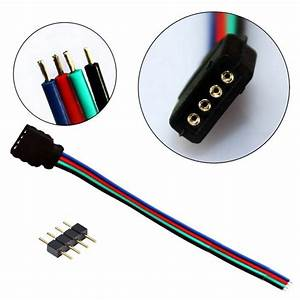 10pcs Led Rgb Strip Light Connector 4 Pin Led Cable Male Female Adapter Wire For 3528 5050 Smd