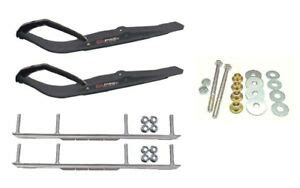 ca pro black razor snowmobile skis   shaper bars complete kit ebay