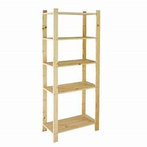 étagère 60 Cm Largeur : etag re bois 5 tablettes x x cm castorama ~ Teatrodelosmanantiales.com Idées de Décoration