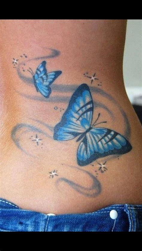 blue butterfly tattoo tattoos pinterest