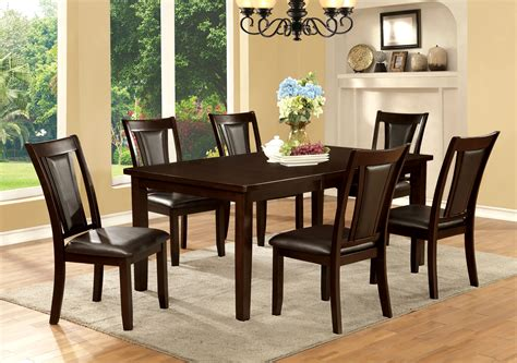 furniture of america cherry bordeaux 7 dining