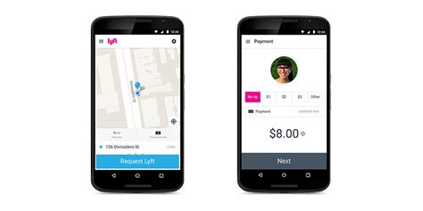 Lyft Now Includes Android Pay