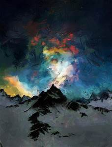 Northern Lights Painting by Georgi Dimitrov