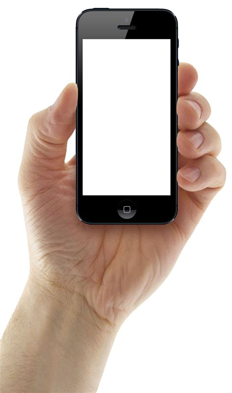 hand holding iphonepng image pngpix